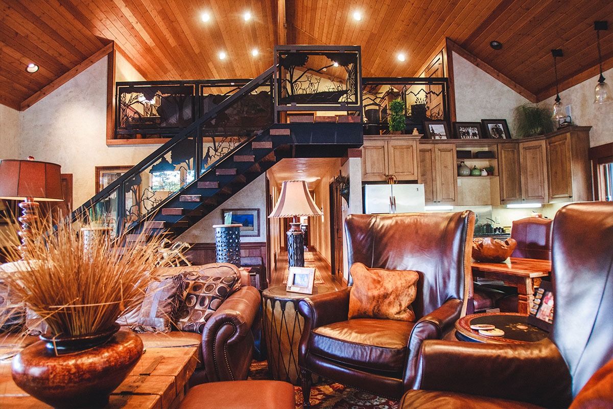 A luxury ranch living room