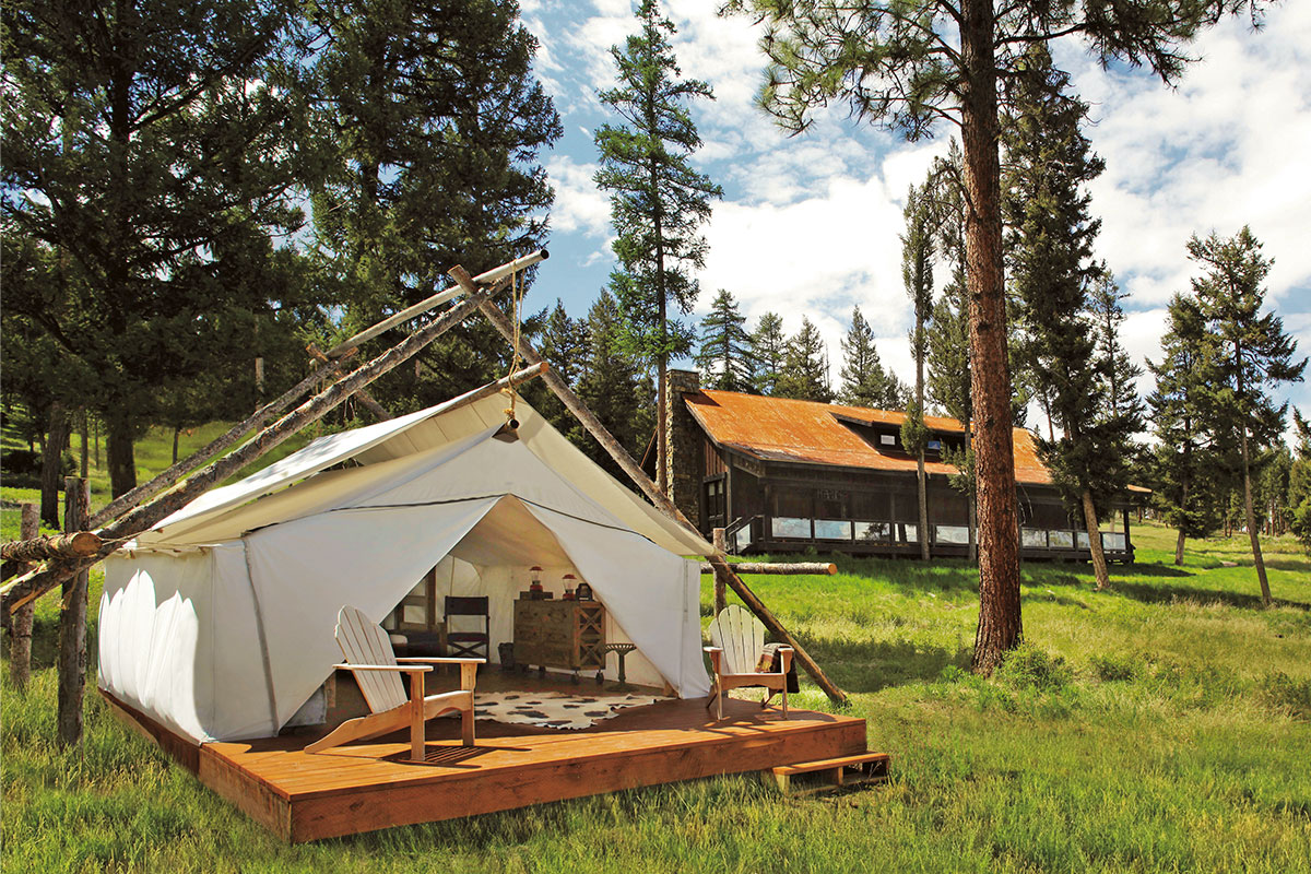Backyard Glamping at Paws Up