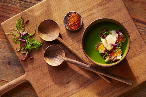 Camp butler inspired dishes