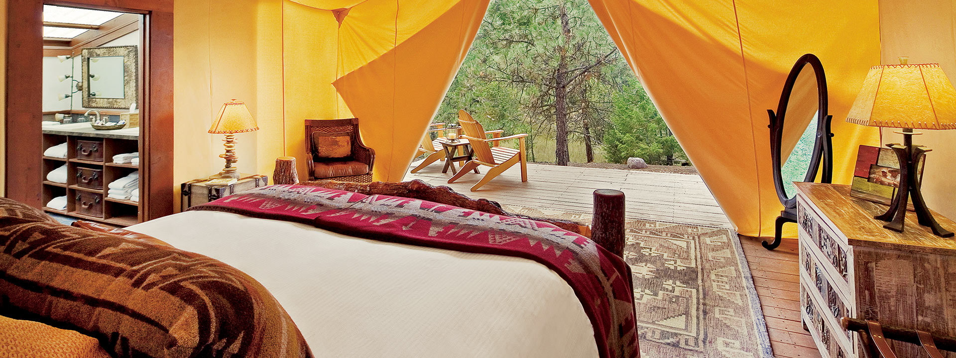 Beau Creekside Camp Tent Interior