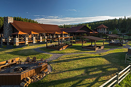 Expansive view of the resort facilities
