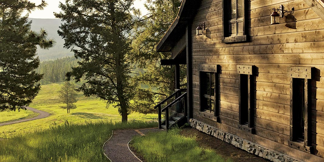 Montana wilderness home.