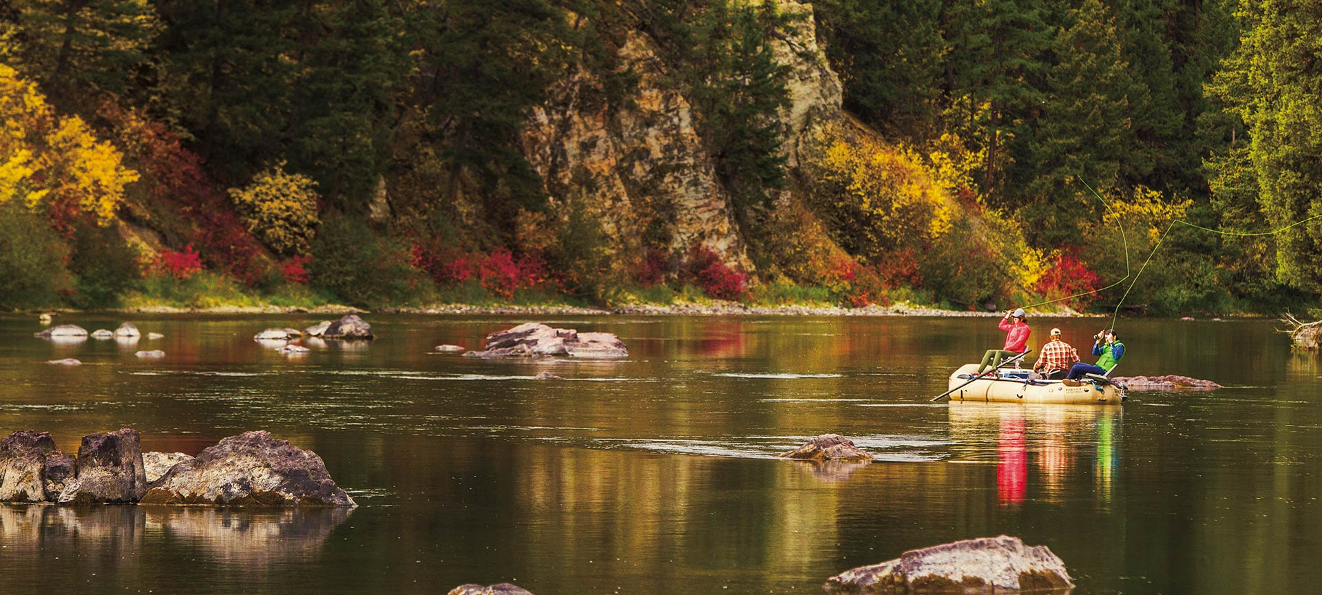 Fly-fishing on the Blackfoot River