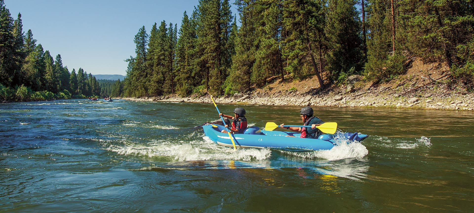 Rafting on the Blackfoot River.