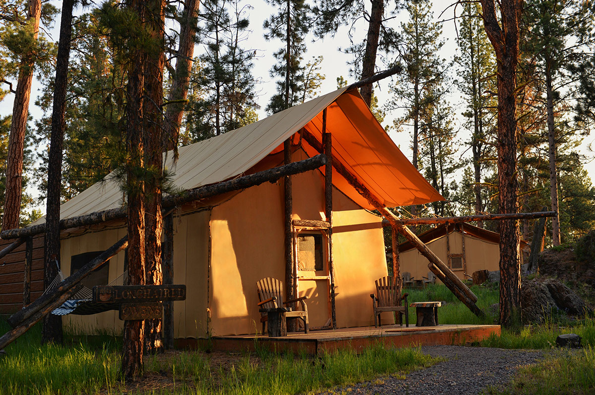2 3 Bedroom Luxury Tent Rates The Resort At Paws Up