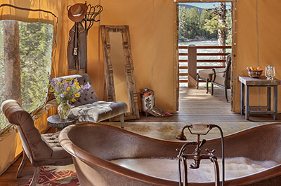 Cliffside Camp Tent - Honeymoon Interior