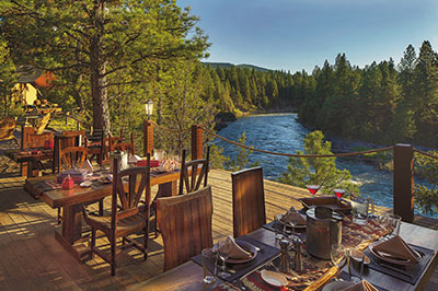 Cliffside Camp - Dining Pavilion Deck
