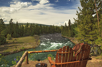 Cliffside Camp - View of the Blackfoot River