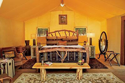 Creekside Camp Tent - 2 Bedroom Interior