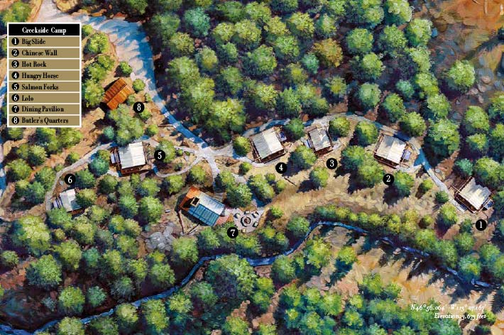 Creekside Camp Map
