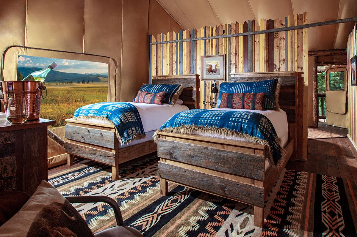 ... North Bank Camp Tent   Second Bedroom Interior