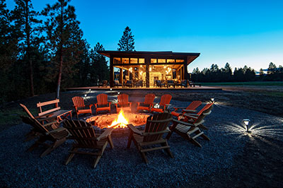 North Bank Camp - Fire Pit and Dining Pavilion