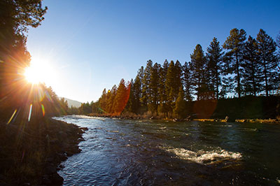 North Bank Camp - The Blackfoot River