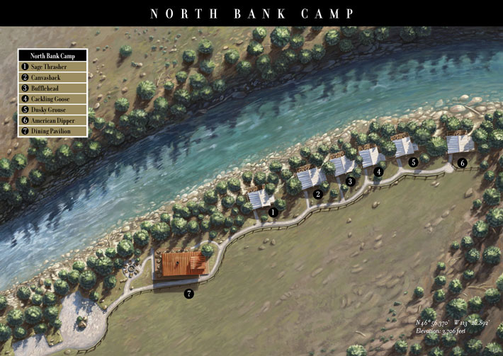 North Bank Camp Map