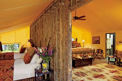 Pinnacle Camp Tent - Two Bedroom Interior