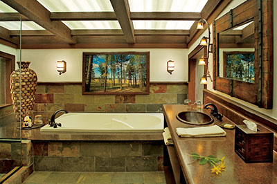 Pinnacle Camp Tent - Bathroom Jetted Tubs and Walk-in Shower