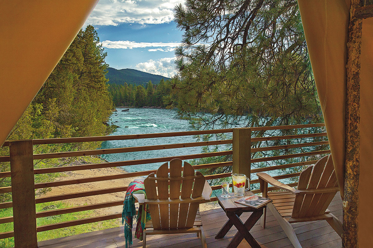 Glamping In Luxury Tents River Camp The Resort At Paws Up