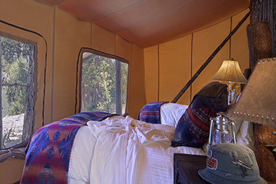 River Camp Tent - Two Bedroom Tent Interior