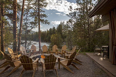 River Camp - Fire Pit and Blackfoot River