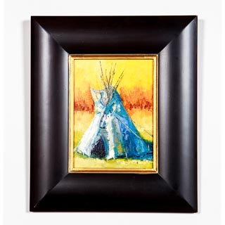 FRAMED OIL PAINTING, <em>WELCOME HOME</em> BY DIANE WHITEHEAD