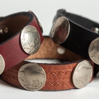 Buffalo Nickel Cuffs