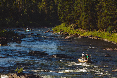 Fly fish our stretch of 10 miles of the Blackfoot River in the summer, spring or fall...