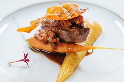 Dine on gourmet cuisine...