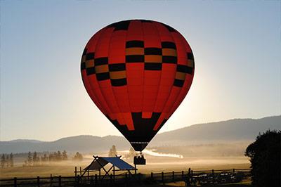 Montana Honeymoon Hot Air Ballooning