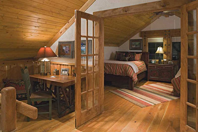 Big Timber Homes - Loft Bedroom + Office