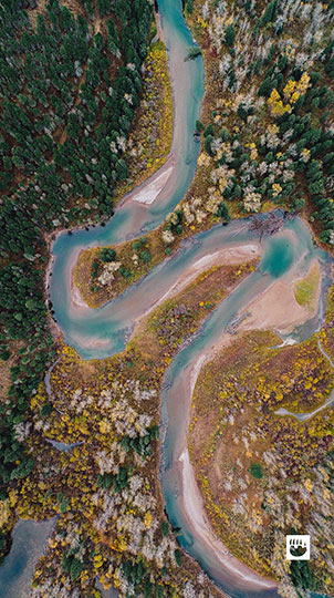 Blackfoot River from above